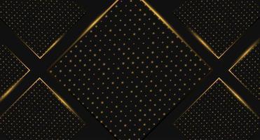 Sfondo speciale diamante nero e oro vettore