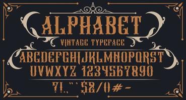 alfabeto decorativo vintage vettore