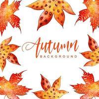 cornice di foglie di autunno dell'acquerello