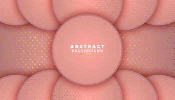 sfondo rosa con cerchi e punti glitter