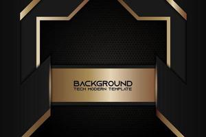 sfondo metallico ad angolo con cornice nera dorata