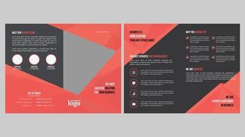 design brochure ad angolo geometrico per uso professionale vettore