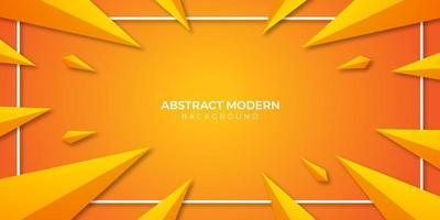 carta da parati moderna gradiente triangolo arancione vettore