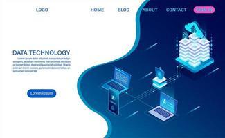 landing page della tecnologia dati
