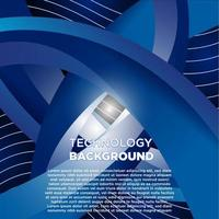 design con tecnologia curva blu e grigia