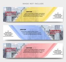 modello di banner aziendale forma ad angolo