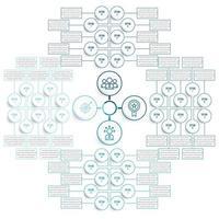 ampio set di elementi circolari infografica