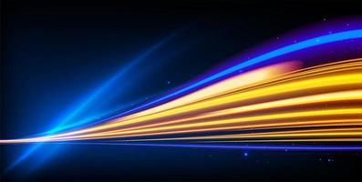 effetto scie luminose con linee sfocate colorate