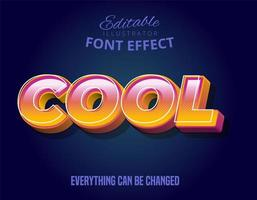 cool effetto di testo in grassetto 3d