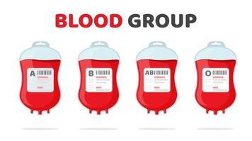 gruppo sanguigno impostato vettore