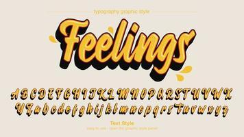 moderno design calligrafia grassetto giallo