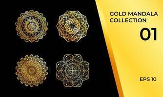 collezione di mandala decorativi vettore