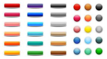 set di pulsanti web colorati