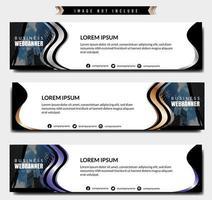 modello di banner aziendale onda metallica