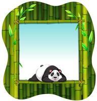 cornice di bambù e panda