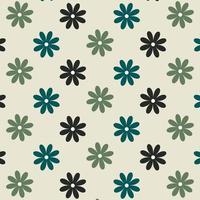 modello di fiore blu e verde senza soluzione di continuità