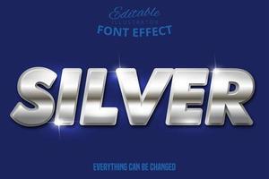 effetto testo argento metallizzato vettore