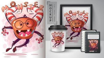 poster e merchandising di mostri sciocchi.