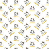 gatti dei cartoni animati che riposa la testa nelle zampe