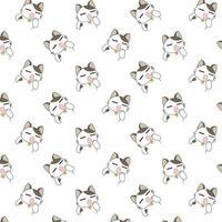 modello di gatti sbadiglio dei cartoni animati. vettore