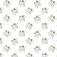 modello di gatti gridando dei cartoni animati vettore