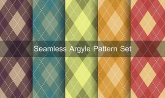 set di pattern argyle senza soluzione di continuità.