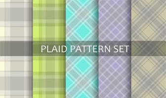 set di pattern primavera pastello plaid