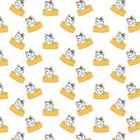 modello di balneazione dei gatti del fumetto vettore