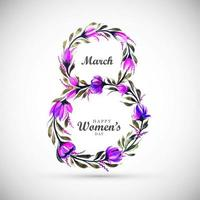 festa della donna fiore viola a forma di 8