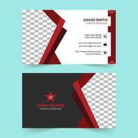 modello di biglietto da visita aziendale rosso creativo