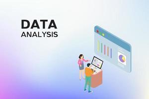 persone che visualizzano i dati sullo schermo del dispositivo del computer
