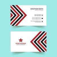 modello di biglietto da visita moderno creativo rosso e nero