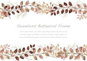 cornice botanica rossa senza soluzione di continuità ad acquerello isolato su uno sfondo bianco. illustrazione vettoriale