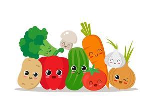 raccolta di personaggi di verdure vettore