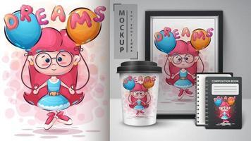 poster e merchandising di sogni per ragazze