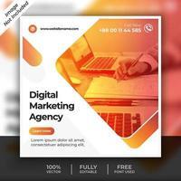 modello di post marketing digitale arancione