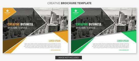 set di disegni orizzontali modello di brochure aziendale