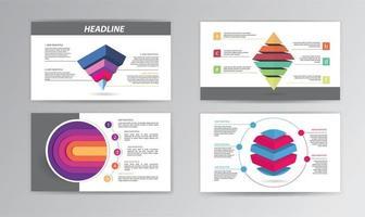 modello di cronologia infografica con forme colorate impilate