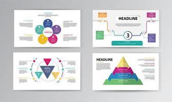 modello di cronologia infografica con forme colorate