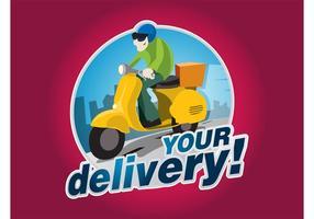 Logo di consegna vettore