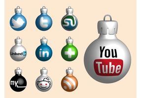 Palle di Natale del sito Web