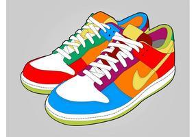 Scarpe colorate vettore