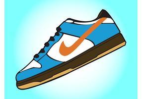 vettore di scarpe Nike