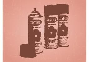 Spray lattine Vector