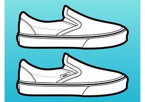 vettore di scarpe furgoni
