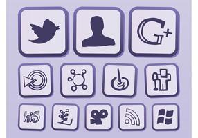 Icone di Internet di vettore
