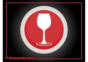 Logo del bicchiere di vino vettore