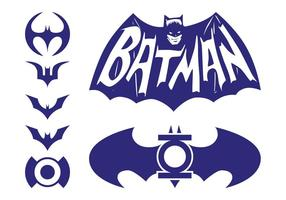 batman logos pack vettore