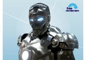 Torso di Iron Man cromato vettore