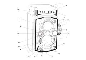 Profili di macchine fotografiche d'epoca vettore